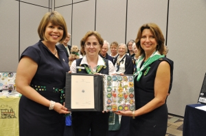 GSCNC CEO Lidia Soto-Harmon (L), Archives Chair Ann Robertson, and GSCNC President Diane Tipton