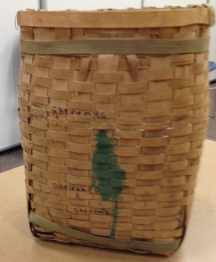 Camp May Flather neighbors taught campers to make white oak pack baskets.