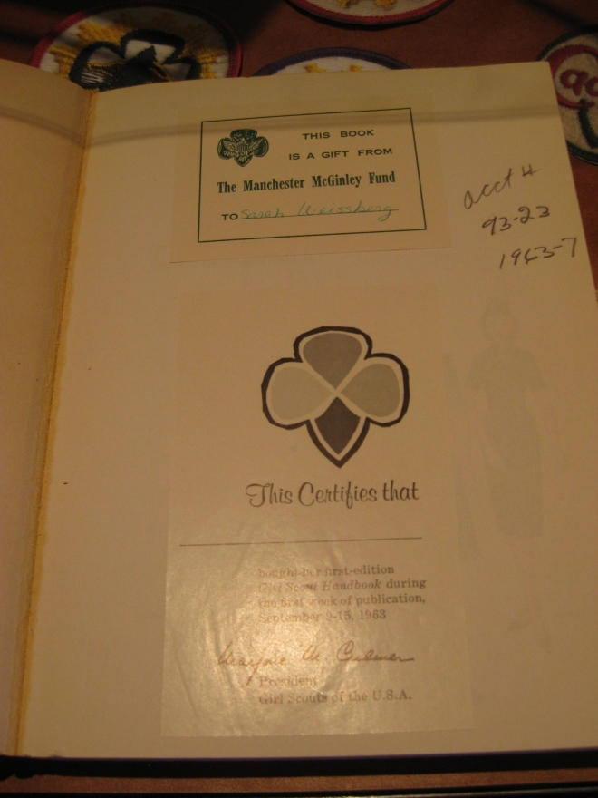 The new handbooks went on sale on September 9, 1963, and books purchased that first week came with a special commemorative bookplate.