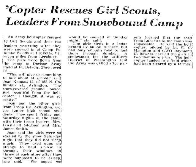 Washington Post, February 17, 1958