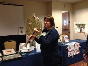 Denise Tomlin explains her bugle technique.