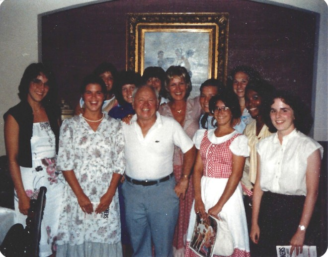 Mickey Rooney and my Wider Opp group.  I'm on the far right.  Yes, I'm even shorter than Mickey Rooney, and I think I was even wearing heels.
