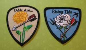 My patches based on the Hunger Games and Catching Fire books and movies.