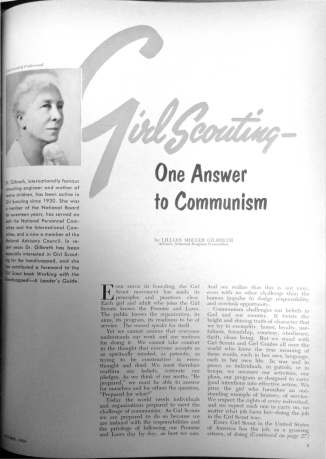 Gilbreth's article also ran in the October 1954 edition of Leader magazine.