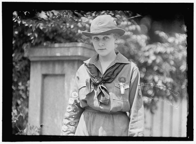 "Eleanor Putzki, the ""Best Girl Scout in America."""