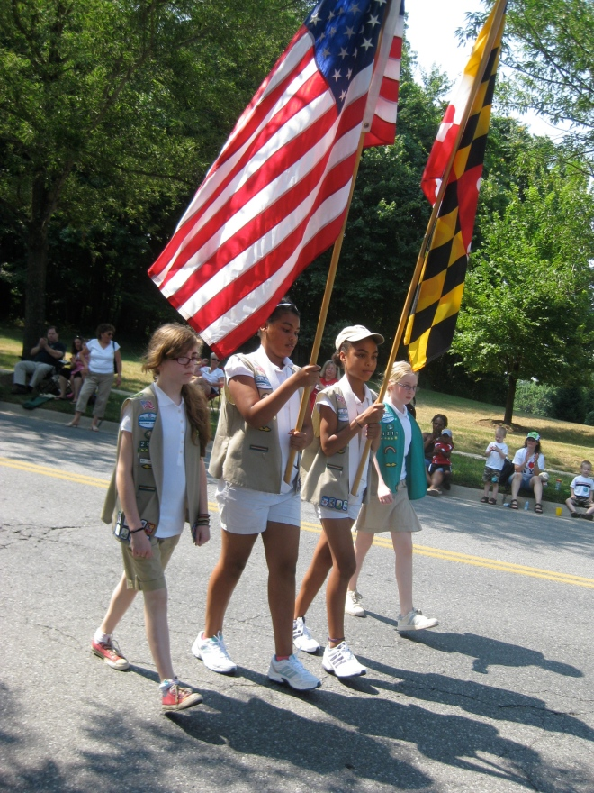 Montgomery Village, Maryland, Independent Day Parade, 2010 (that's my daughter on the left!)