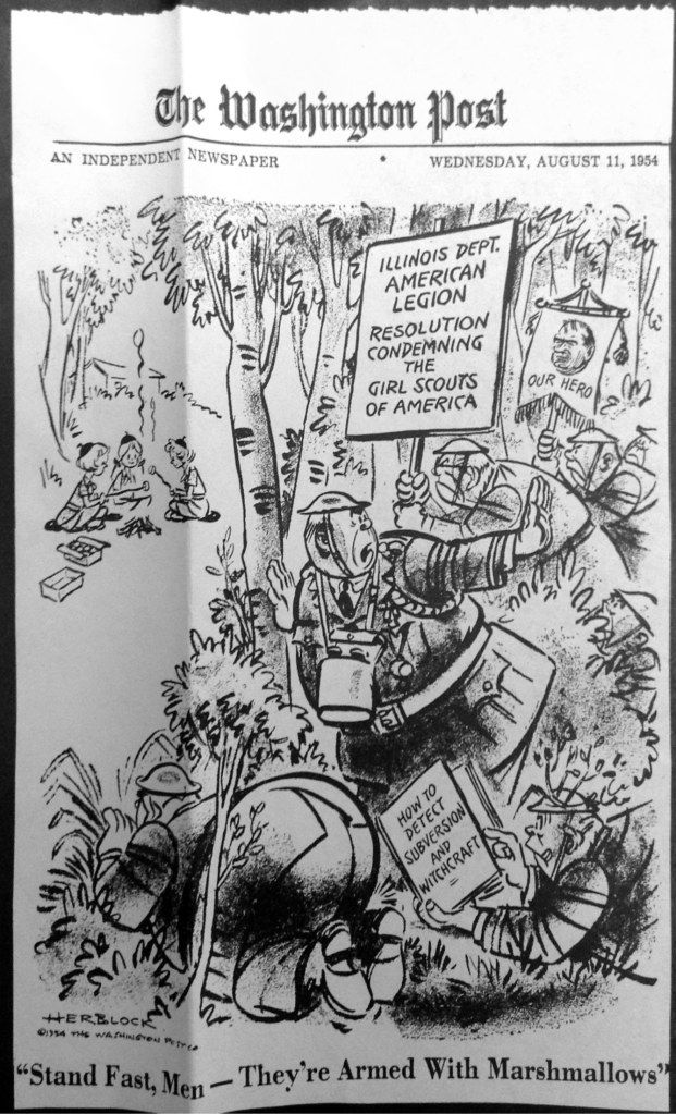 One of the many editorial cartoons about the controversy.