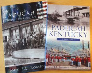 Some of my father's books on Paducah's history.