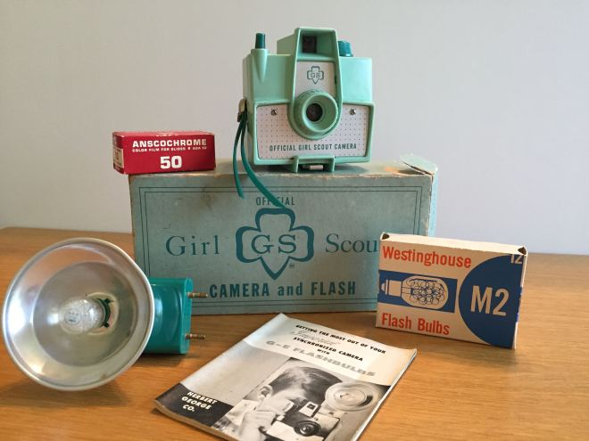 This Girl Scout camera set  debuted in 1955. It originally sold for $3.95.