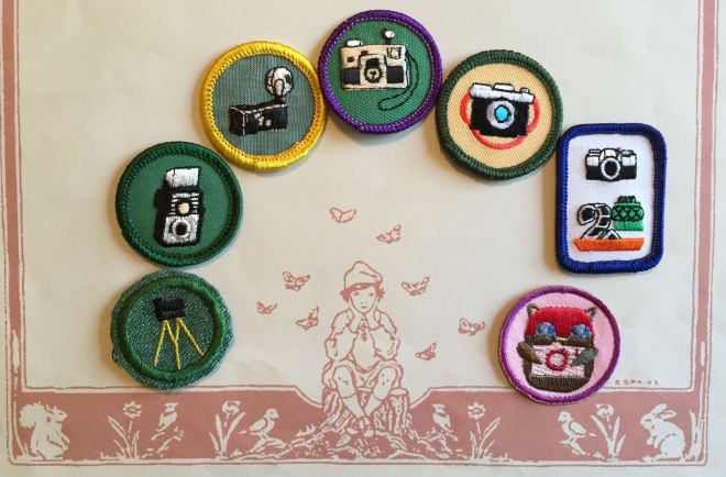 Girl Scout photography badges since the 1930s.