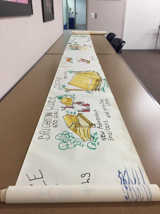 Camp history scroll