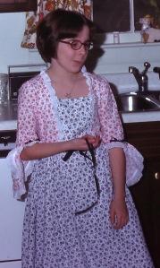 My bicentennial dress from 4th grade.