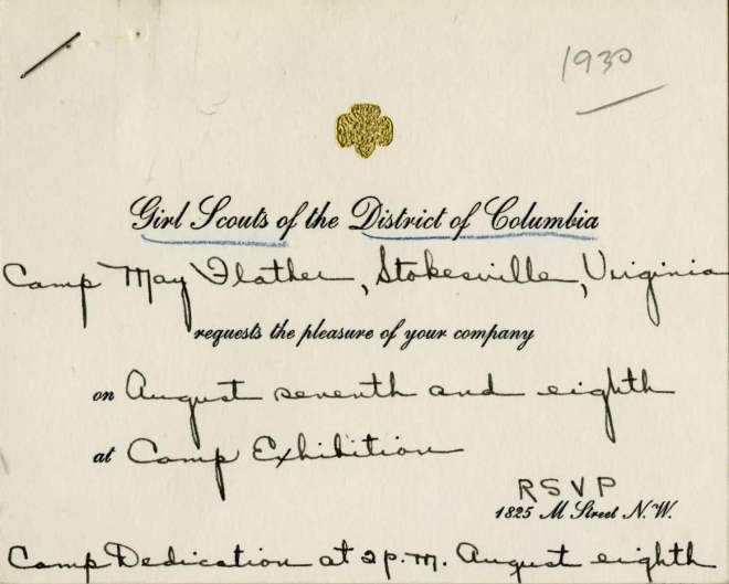 A coveted invite to the camp dedication (Hoover Presidential Library)