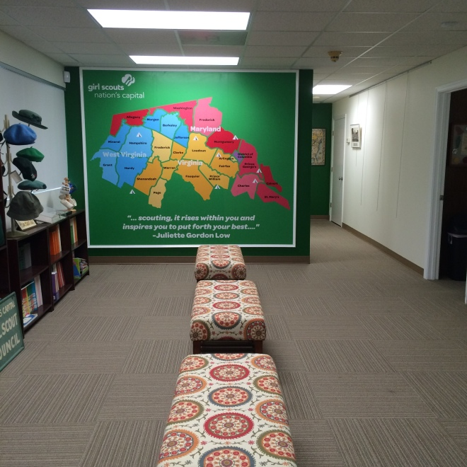 Main exhibit area includes a council map.