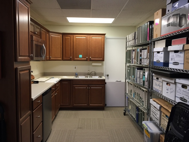 Publication storage and workroom. The Center previously was a field office.