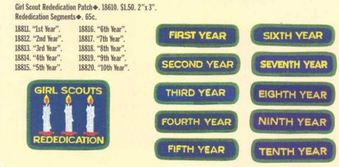 Rededication Rockers first appeared in the 1999 patch catalog.
