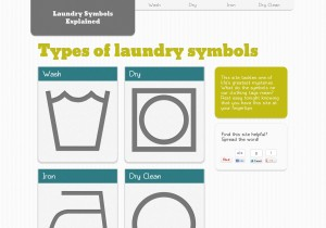 Laundry Symbols Explained (http://visual.ly/laundry-symbols-explained)