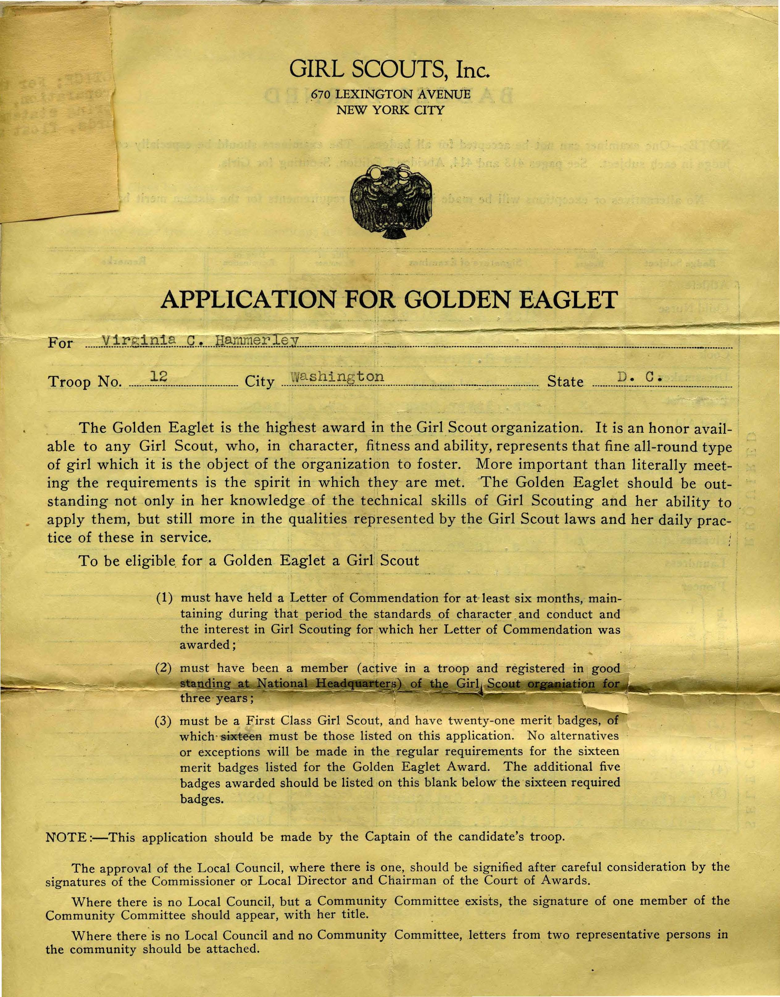 Eaglet Application 1