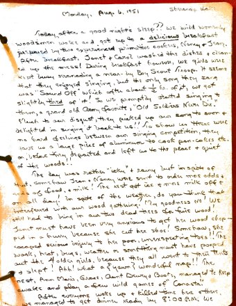 Sherando Lake Log 1951 page 10