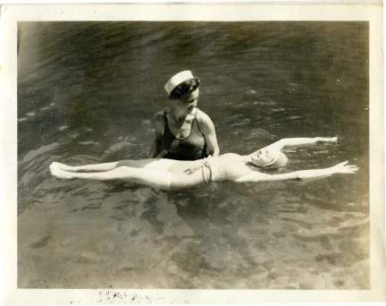 Swimming lesson (GSCNC Archives)
