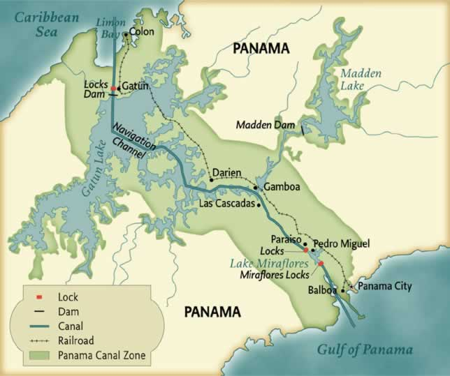 panama-canal-map | Girl Scout History Project