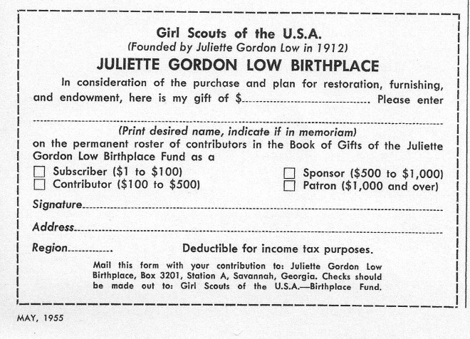 Birthplace Gift Form
