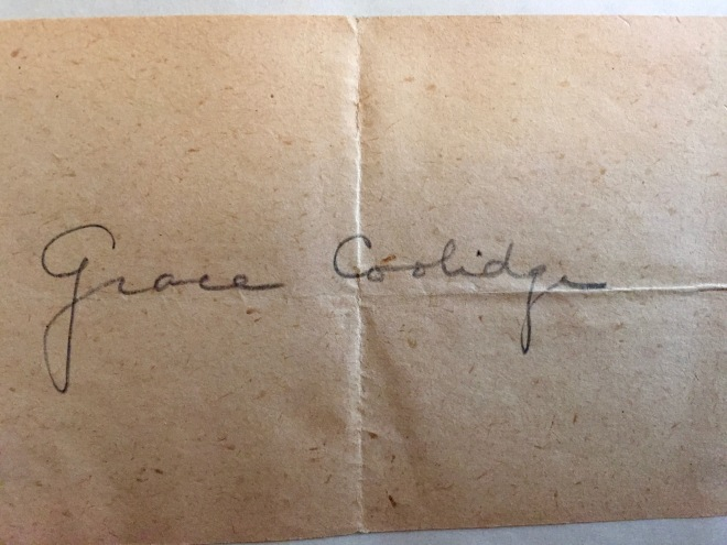 Coolidge Autograph