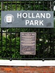 Holland Park sign