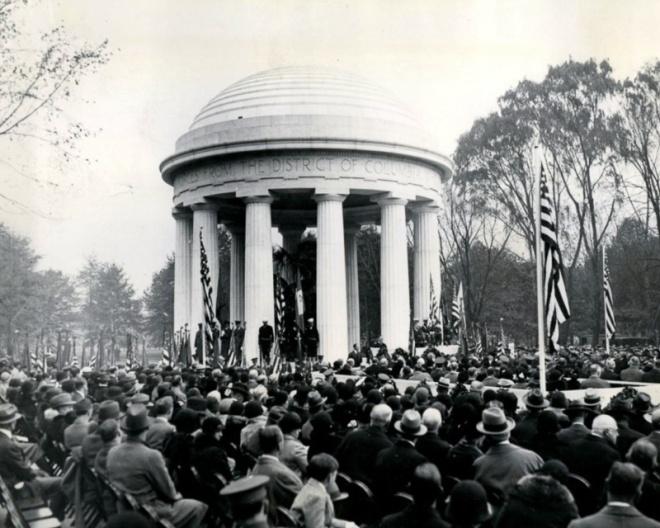 WWI Memorial dedication
