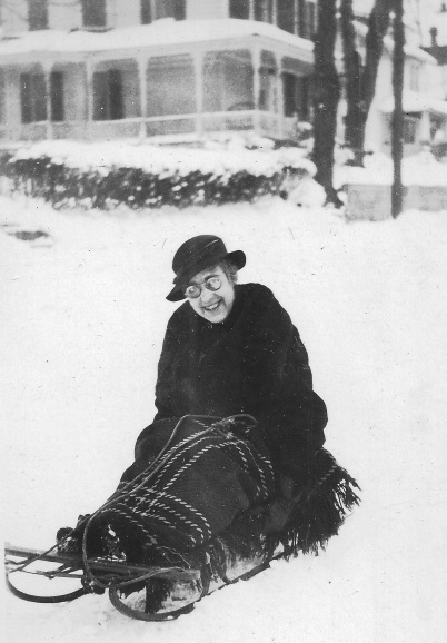 Jessie Dashiell snow sled